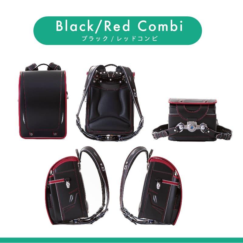 【2022年4月入学】くるピタ 超軽量シンプルモデル/ブラック×レッド