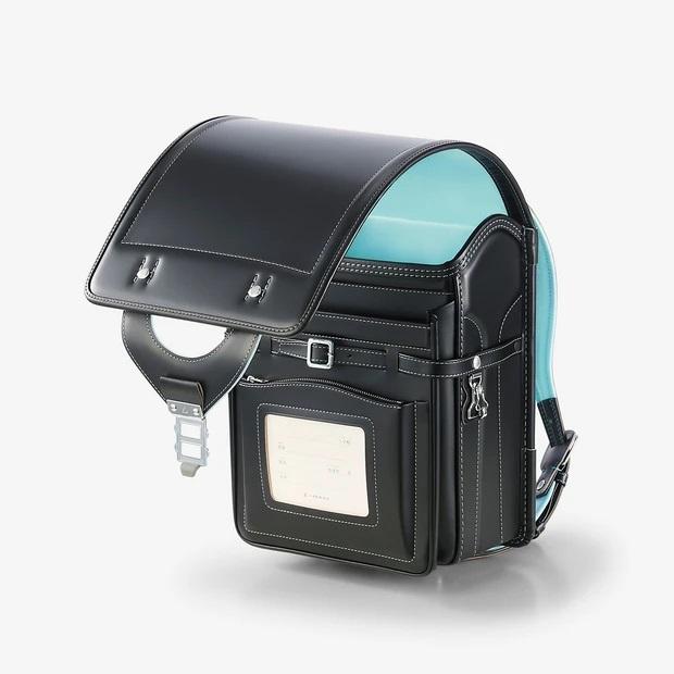 【2022年4月入学】No.13 ベーシックカラープラス コードバン 黒×水色